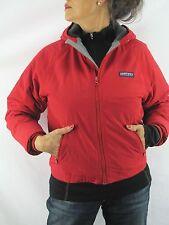 Lands' End VTG Youth Girls Red Squall Jacket Fleece Lined Jacket Hood Med M1A