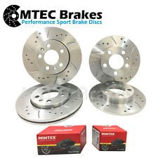 Audi A4 1.6 01-04 Front Rear Brake Discs & Pads Drilled Grooved