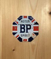 Bp Motor Oil Octagon Vintage Retro ENAMEL METAL TIN SIGN WALL PLAQUE