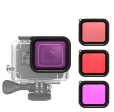Diving Filter Lens Cover set for GoPro HERO 5 6 7 Red Magenta Pink