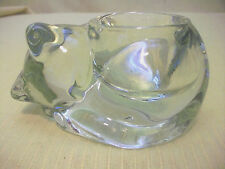 Avon Cat Candle Holder Crystal Figure Kitten Indiana Glass Paperweight Nickknack