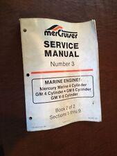MERCRUISER MERCURY MARINE ENGINE GM 4 6 8 CYLINDER NUMBER 3 BOOK2 SERVICE MANUAL