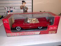 Sun Star 1960 Ford Thunderbird Convertible 1:18 Scale Diecast Model Car Red RARE
