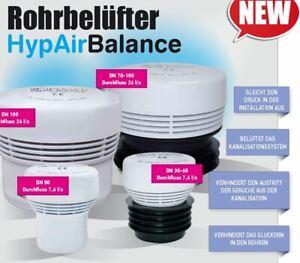 Abwasser Rohrbelüfter DN 50 75 110 HypAir Balance Abfluss Belüftungsventil HT
