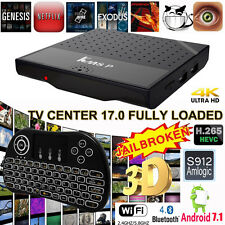 KM8P 4K Android 7.1 Smart TV BOX Amlogic S912 Octa Core 1G+8G With P9 Keyboard