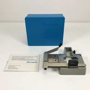 Vintage FERRANIA Italy 8mm Tape Film Splicer with Original Box & Instructions