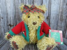 "Hallmark Merrily Bear Plush Stuffed Teddy Bear with Christmas Sweater 13"" & Tags"