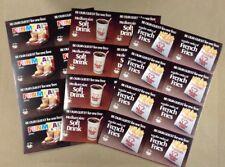 Group Of 3 Uncut 1979 Sheets Burger Chef Coupons FREE SHIPPING INV P037