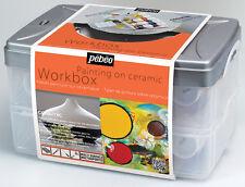 PEBEO CERAMIC PAINT WORK BOX SET 10 X 45 ml SOLVENT BASED PAINTING SET