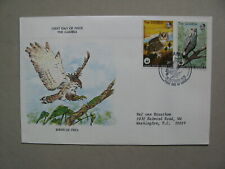 GAMBIA, cover FDC1978, birds owl