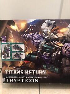 Transformers Hasbro Titans Return Decepticon Trypticon Figure New