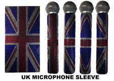 Union Jack, British Flag, Red, Blue, & Crystal Rhinestone Wireless Bling Sleeve