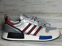 Adidas Rising Star x R1 Originals Boost Shoes Silver Red Blue Size 12 New G26777