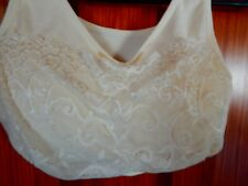 MILANA  , FLORAL LACY, LIGHT BEIGE,SOFT, CAMI TOP, WITH PADS ,SIZE XL ,NICE