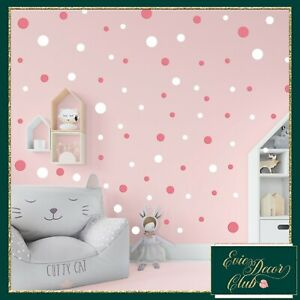 Polka Dot Wall Decals Stickers 17colours to Mix!Peel and Stick Dots Nursery Room
