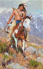 Wanderer by Jason Rich Native American Brave Horseback Western Art Print 15x24