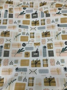 5 Metres Packages Parcels Stationary 100% Cotton Fabric. 150gsm (end Piece)