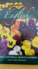 Pansy universal mixed English Gardens seeds by Thompson and morgan. fresh stock.