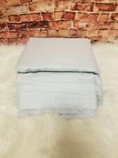 Lucky Brand Sateen Cotton Fringe Grey Twin Sheet Set