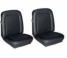 1968 Mustang Front Bucket Seat Upholstery- Black Made by TMI - IN STOCK!!