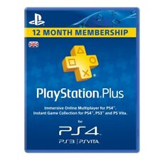 Sony PlayStation Plus Card - 365 Day Subscription 1 Year / 12 Month Membership