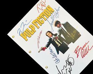Pulp Fiction Film Movie Script Screenplay Signatures Autograph Reprint Tarantino