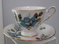 Vintage Royal Standard Cup & Saucer England Fine Bone china Blue Roses