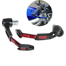 Motorcycle Clutch Brake Lever Guard Grip Protector 22mm Red CNC Handlebar Mount