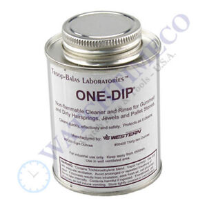 One Dip Watch Parts Cleaner & Rinse for Hairspring, Jewels, Pallet - Made in USA