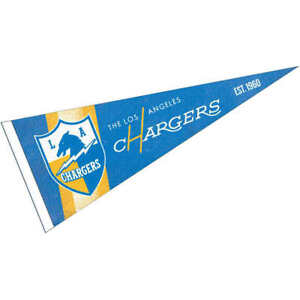 LA Chargers Throwback Vintage Retro Pennant Flag