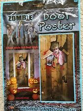 Giant Zombie Door Cover Poster Halloween Decoration Prop NEW
