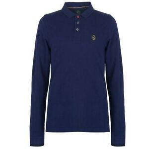 Luke 1977 Sport Mens Long Sleeve Mead Polo Shirt Size Medium Cotton Button Up