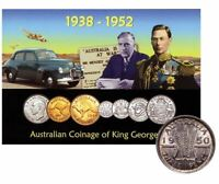 1938-1952 MINT SET King George Coins on Card