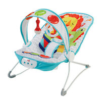 Baby Bouncer Seat Vibrating Chair Comfort Kick and Play Fisher Price