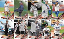 2016 Topps Update First Pitch Complete Insert Set of 10 Cards - Craig Sager +