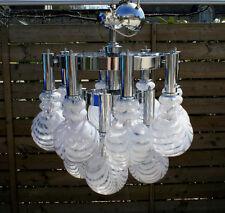 RARE Huge Mid-century Space age retro 1960's Italian  globes chandelier murano