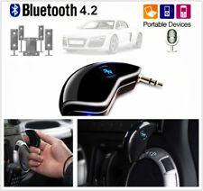 Bluetooth 4.2 micrófono incorporado Adaptador Receptor de música AUX 3.5MM Car Audio Dongle