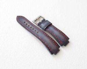 Handmade Leather Watch Strap Oris Aquis, ORIS watchband GREY & red, all size
