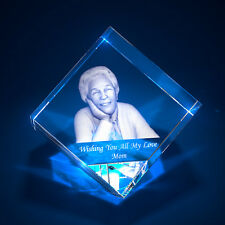 3D Laser Crystal Glass Personalized Etched Engrave Gift Freestyle Diamond L