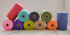 100m Thick Coloured Twine JOB LOT!!! String Ribbon Craft Jute Natural