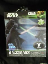 Star Wars Super 3D 6 Jigsaw Puzzles NEW