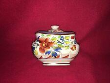 Staffordshire Pearlware Gaudy Dutch Single Rose Sugar Bowl Ca. 1820