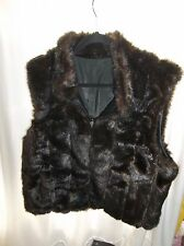 Worthington Women's Reversible Faux Mink/Black PVC/PU Size XL VERY VERSATILE!