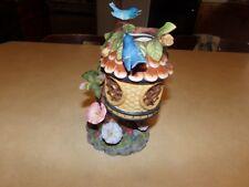 Partylite Tree Top Inn Tealight Candle Holder Bluebird Hummingbird
