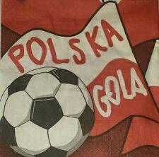 4 x singolo di carta Tovaglioli Palla POLSKA SPORT DECOUPAGE artigianale - 27
