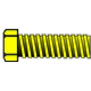 "Woodland Scenics H861 00-90 1/8"" Mini Hex Head Machine Screw (5) Brass"