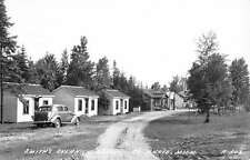 St Ignace Michigan Smiths Overnight Cabins Real Photo Antique Postcard K64742