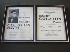 1947-1948 Robert Colston Pianist Concert Posters Lot Of 2 - Coe College - P 276