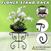 Metal Flower Stand Plant Rack Shelf Balcony Indoor Outdoor Floor Pot Display