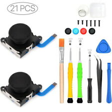 21 in 1 Analog Thumb Stick for Nintendo Switch Joy Con 3D w Repair Kit Tools